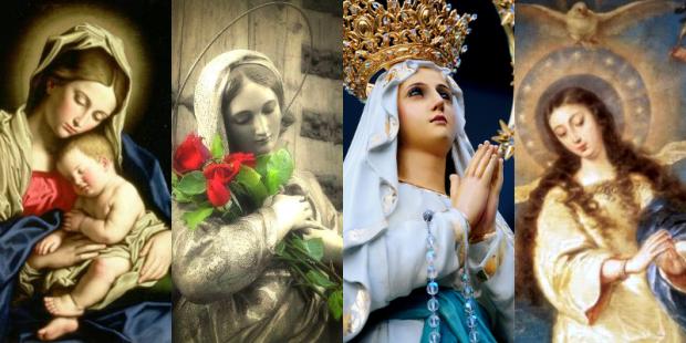 .Os 4 dogmas sobre Nossa Senhora.