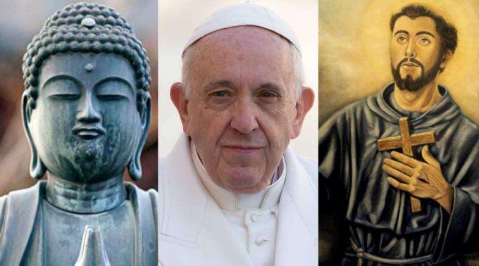 .Isto foi o que o Papa disse sobre Buda e São Francisco de Assis.