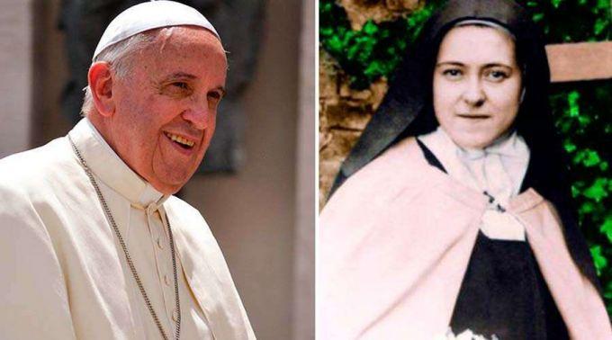 .10 ensinamentos do Papa Francisco sobre sua devoção a Santa Teresinha do Menino Jesus.