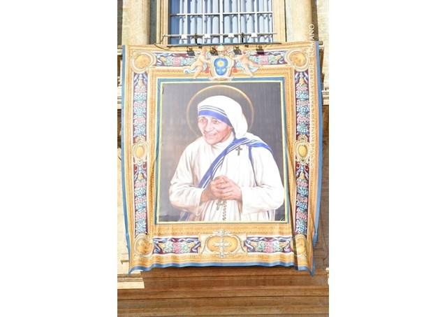.Cerimônia da canonização de Madre Teresa de Calcutá.