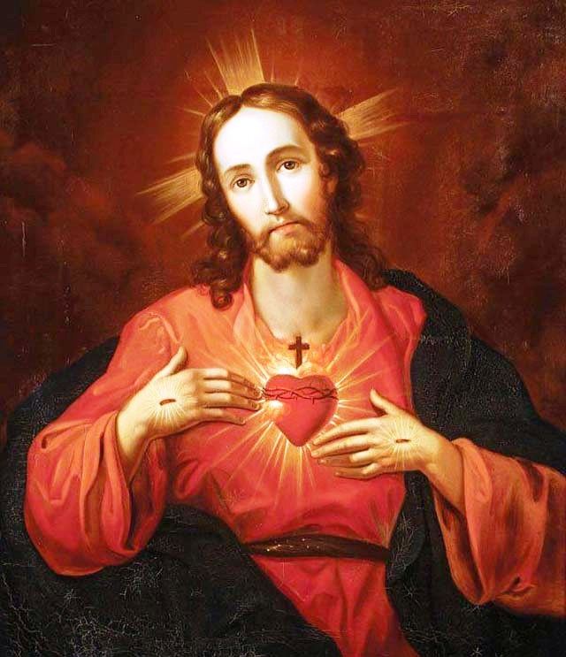 .As pulsações do Sagrado Coração de Jesus.